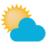 Generally cloudy sky with possibility of development of thunder or lightning