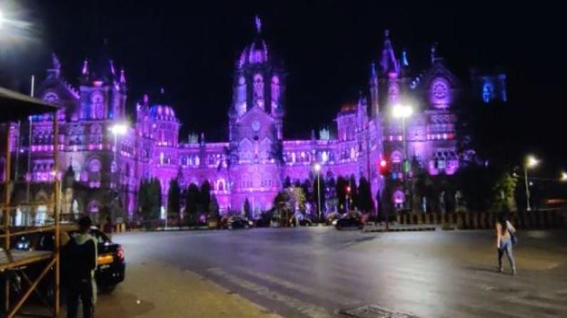 यात छत्रपती शिवाजी महाराज टर्मिन्स, मुंबई महानगरपालिकेच्या मुख्य इमारतीला जांभळ्या रंगाची रोषणाई केली आहे.
