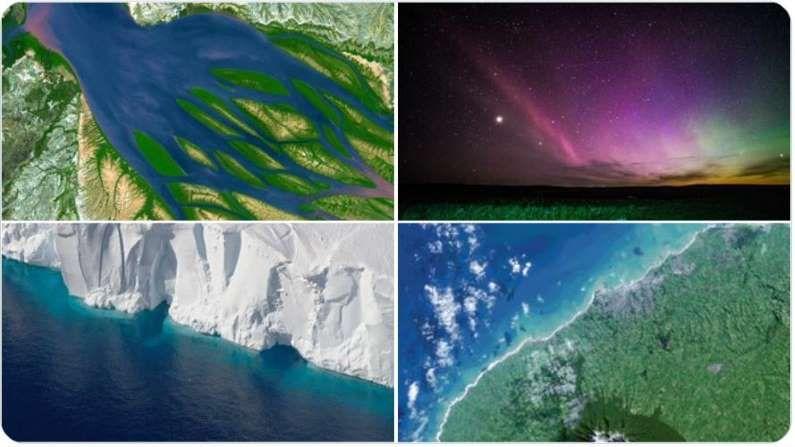 नासानं शेअर केलेल्या छायाचित्रांना सोशल मीडिया प्लॅटफॉर्मवर युजर्सनी लाईक केलं आहे. दरवर्षी 22 एप्रिलला जागतिक वसुंधरा दिवस साजरा केला जातो.  ( Credit: Nasa360 Twitter)