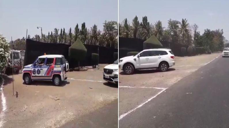 राज्यातील काही आमदार, खासदार यांच्या गाड्या गेटमधून सोडण्यात आल्या. पोलीस आणि सुरक्षा पथकांचा मात्र या ठिकाणी राबता पाहायला मिळाला.