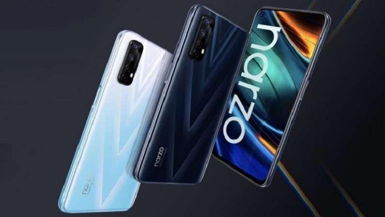 Realme Narzo 30 Pro 5G या स्मार्टफोनमध्ये तुम्हाला डायमेन्सिटी 800U चिपसेट आणि 5000mAh बॅटरी मिळेल. याचा डिस्प्ले 6.5 इंचांचा असून यात 8 जीबी रॅम देण्यात आला आहे. या स्मार्टफोनची किंमत 15,999 रुपये इतकी आहे.