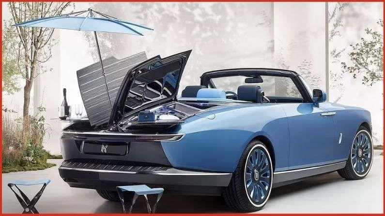 जगातील सर्वात महागडी कार रोल्स-रॉयस बोट टेल एक नॉटिकल-थीमवाली लक्झरी कार आहे, ज्यामध्ये रियर डेक आहे जो पिकनिक सेटमध्ये बदलता येतो.
