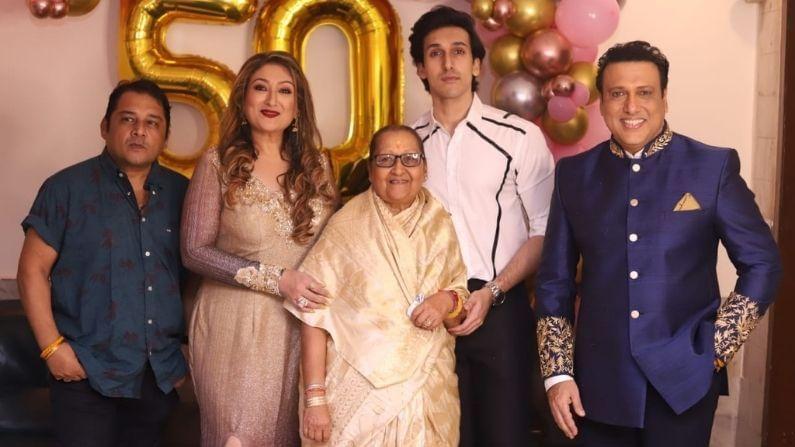 बॉलिवूड अभिनेता गोविंदा (Govinda) याची पत्नी सुनिता आहुजा (Sunita Ahuja) 50 वर्षांची झाली आहे. 15 जून रोजी गोविंदाने तिच्या वाढदिवसाच्या निमित्ताने आपली मुलं टीना (Tina) आणि यशवर्धन (yashvardhan) यांच्यासमवेत भव्य पार्टी आयोजित केली होती. अभिनेता शक्ती कपूर (Shakti Kapoor) आणि गायक उदित नारायणही अभिनेत्याच्या घरी या पार्टीत पोहोचले होते.