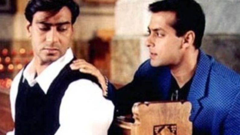 चित्रपटाला 22 वर्षे पूर्ण झाल्यावर अभिनेता अजय देवगणनं त्याच्या सोशल मीडियावर शूटिंगदरम्यान काही फोटो शेअर केले असून त्यामध्ये तो संजय लीला भन्साळी, ऐश्वर्या आणि सलमान खानसोबत दिसला आहे.