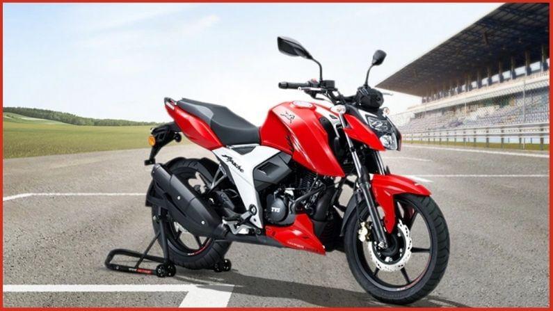 TVS Apache देशात विक्रीच्या बाबती चौथ्या क्रमांकावर असलेली बाईक आहे.