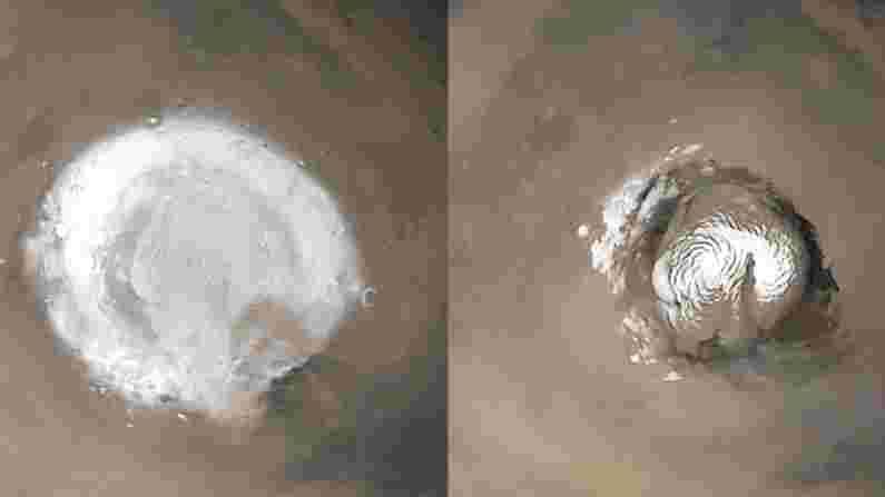लोक मंगळ ग्रहाच्या दोन्ही ध्रुवावरही भेट देण्यास सक्षम असतील. 2008 मध्ये फिनिक्स लँडरने केलेल्या अभ्यासानुसार या दोन बर्फाळ प्रदेशांची रचना वेग वेगळी आहे. हिवाळ्यात येथे तापमान खूप कमी होते.