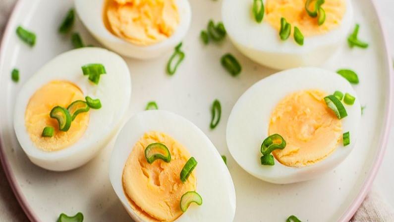 अंड्यामध्ये भरपूर प्रोटीन असते. आहारात पर्याप्त प्रमाणात प्रोटीन आपल्या आरोग्यासाठी फायदेशीर आहे. हे आपल्या केसांसाठीही फायदेशीर आहे. ते सेवन केल्याने केसांना प्रथिने मिळतात. यामुळे आपले केस सुंदर आणि जाड होतात.