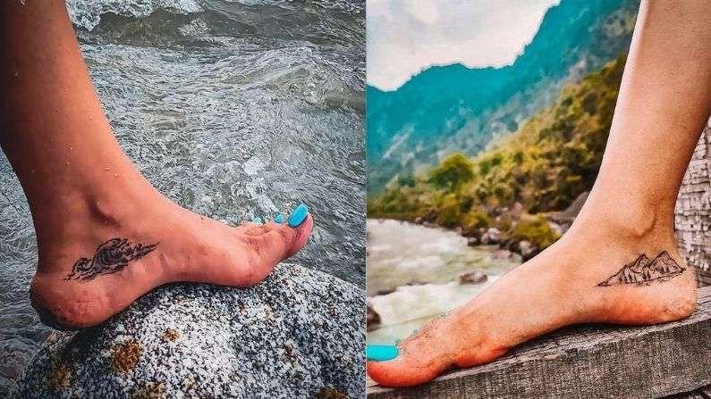 एवढंच नाही तर मितालीच्या खास टॅटूनं चाहत्यांचं लक्ष वेधून घेतलं आहे. डोंगर आणि नदीचा टॅटू तिनं आपल्या पायावर काढला आहे.