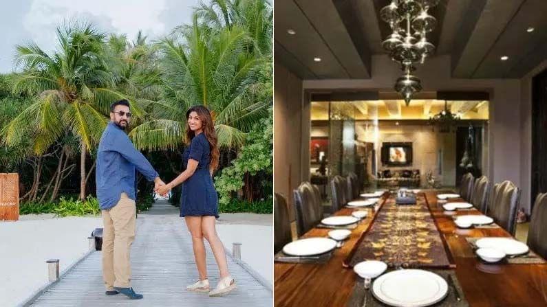 शिल्पा शेट्टी (Shilpa Shetty) आणि राज कुंद्रा (Raj Kundra) आपल्या कुटुंबियांसह मुंबईतील एका आलिशान घरात राहतात. शिल्पाचे आलिशान घर मुंबईतील जुहू भागात आहे. जिम, भव्य गार्डन ही त्यांच्या घरातली खास वैशिष्ट्ये आहेत. शिल्पा आणि राज सोशल मीडियावर चाहत्यांना त्यांच्या घराची झलक दाखवत असतात.