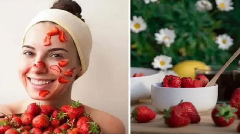 स्ट्रॉबेरी खाणे आपल्या त्वचेसाठी अत्यंत फायदेशीर आहे. यामुळे आपली त्वचा अधिक सुंदर आणि तरूण दिसते म्हणून ज्यांना त्वचेच्या काही समस्या असतील तर त्यांनी देखील स्ट्रॉबेरी खाणे चांगले आहे. ज्यांना चेहऱ्यावरील सुरकुत्यांचा समस्या आहेत.