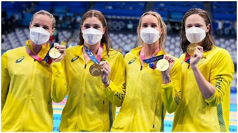 Australian swimmers team