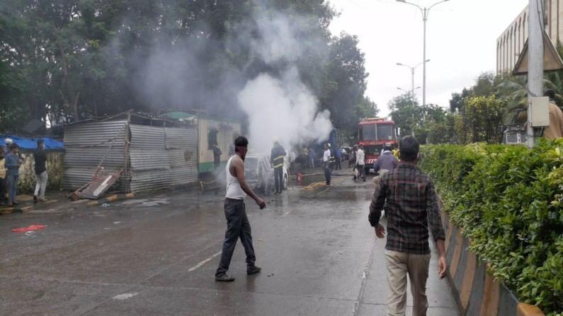 Navi Mumbai APMC Car Burns