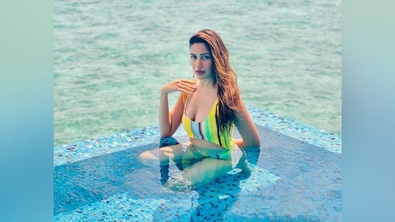 Surbhi Chandna : टीव्हीच्या 'नागिन'ची मालदीव सफर, पाहा सुरभी चंदनाचे नवे फोटो