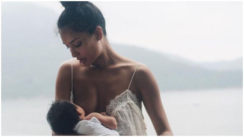 आता लिसानं शेअर केलेल्या फोटोमध्ये ती स्तनपान करताना दिसतेय. हे फोटो आता सोशल मीडियावर चर्चेचा विषय ठरत आहेत.