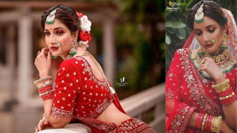 'आई कुठे काय करते' या मालिकेत 'संजना'ची भूमिका साकारणारी अभिनेत्री रुपाली भोसले लग्नबंधनात अडकल्याच्या चर्चा असते. आता अशातच तिनं सुंदर ब्रायडल फोटोशूट केलं आहे. हे फोटो शेअर करताच आता रुपाली लग्नबंधनात अडकणार का असा प्रश्न चाहत्यांना पडला आहे.