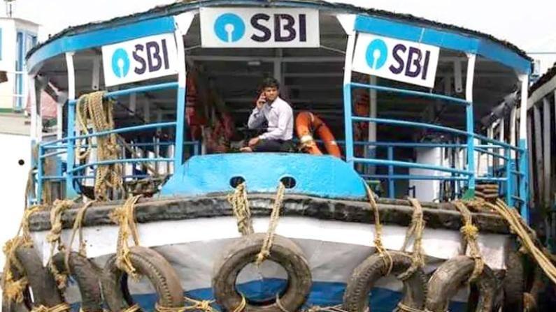 SBI Bank floating ATM iN Srinagar Dal lake