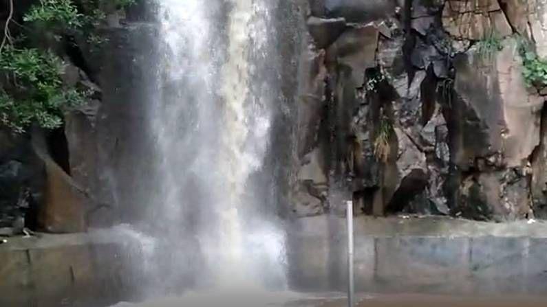 बीड शहरानजीक असलेला कपिलधार येथील धबधबा खळखळून वाहत आहे. या धबधब्याचं रूप अनुभवण्यासाठी पर्यटक देखील गर्दी करू लागले आहे.
