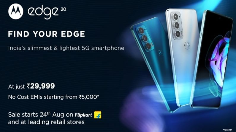 Moto Edge 20 in the market with 108MP camera, first sale today with big discount