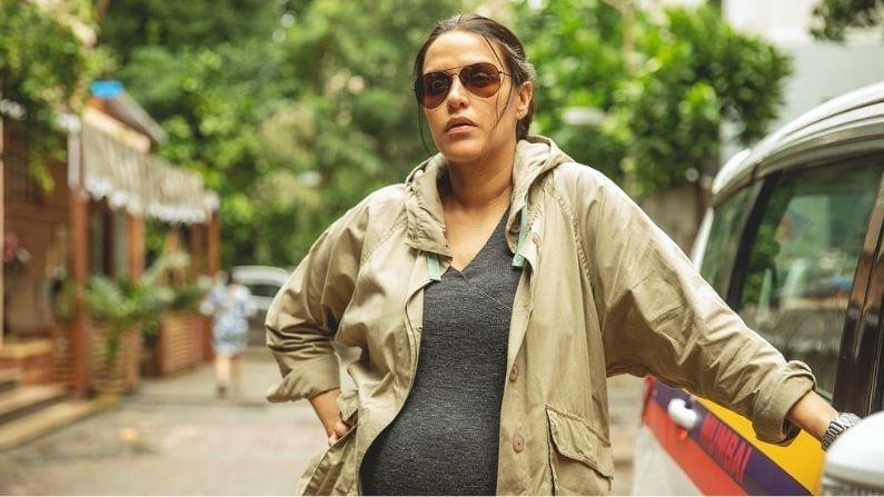 'ए थर्सडे'मधील एका गर्भवती पोलीस अधिकाऱ्याच्या रूपात नेहा धूपियाच्या बहुप्रतीक्षित लुकचं अनावरण करण्यात आलं आहे. महत्त्वाचं म्हणजे या चित्रपटादरम्यान नेहा धुपिया आठ महिन्यांची गर्भवती होती.