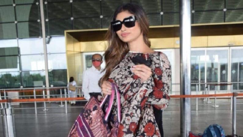 मौनी रॉय नेहमीच स्टाईलमुळे ओळखली जाते. नुकतेच अभिनेत्री मुंबई विमानतळावर फ्लोरल सूटमध्ये दिसली. या सूटमध्ये मौनी रॉय जबरदस्त दिसत होती.