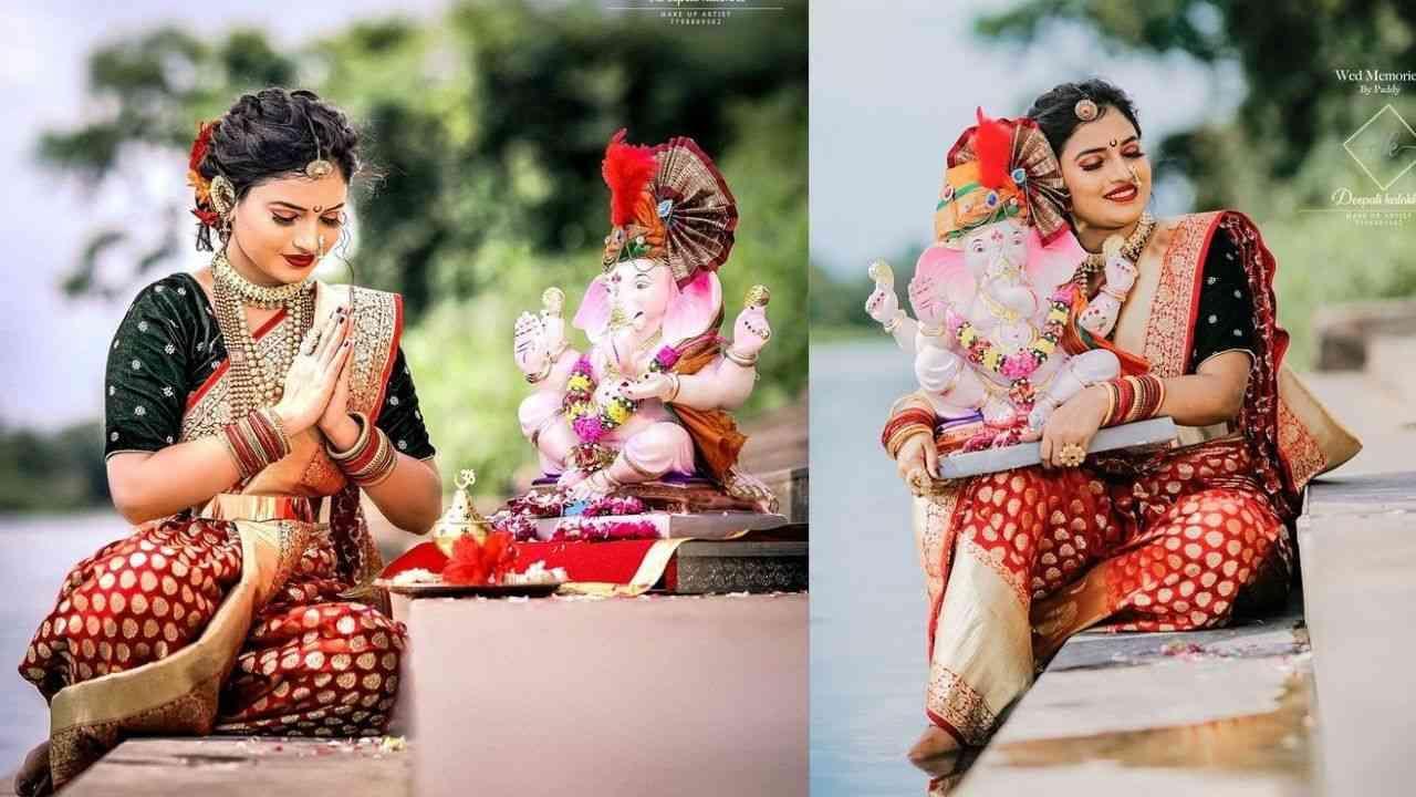 प्रेक्षकांची लाडकी शालू अर्थात अभिनेत्री राजेश्वरी खरातनं गणपती बाप्पा सोबत सुंदर फोटोशूट केलं आहे. या फोटोशूटचे फोटो तिनं सोशल मीडियावर शेअर केले आहेत.
