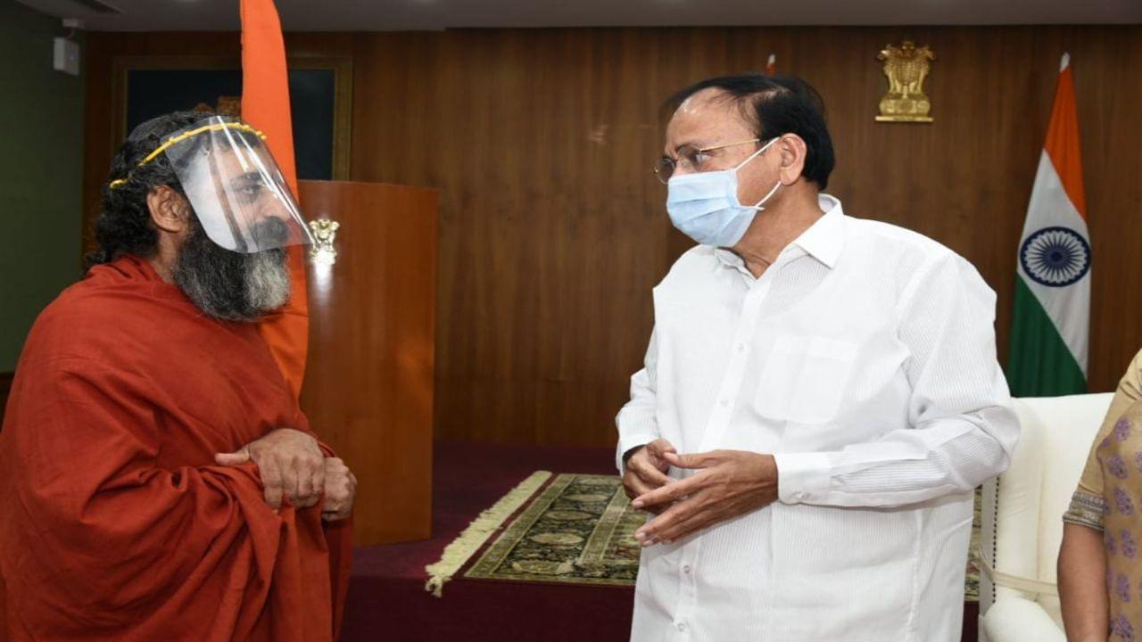 Chinna Jeeyar Swami also invited Vice President Venkaiah Naidu