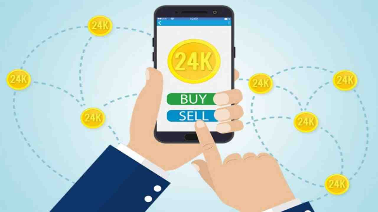 How to buy and sell gold digital online by using google pay