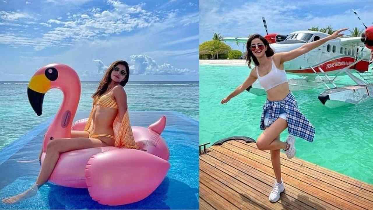 गेल्या काही महिन्यांपासून, अनेक बॉलिवूड स्टार्स त्यांच्या सुट्टीचा आनंद घेण्यासाठी मालदीवमध्ये पोहोचत आहेत. आता यात अनन्या पांडे दुसऱ्यांदा मालदीवची सफर करण्यासाठी पोहोचली आहे. तिने तिच्या सोशल मीडियावर तिचे काही अतिशय सुंदर फोटो शेअर केले आहेत, हे फोटो आता सोशल मीडियावर धुमाकूळ घालत आहेत.