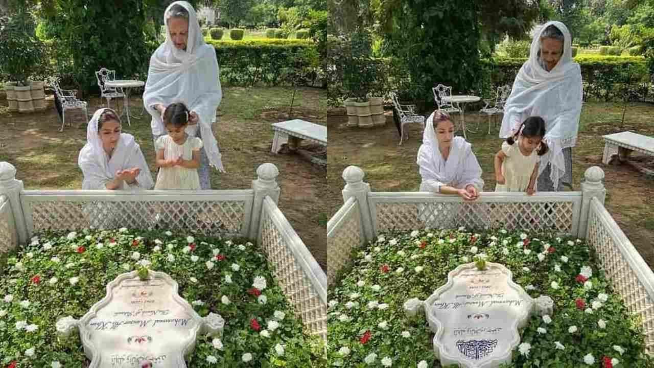 मन्सूर अली खान पतौडी यांची काल पुण्यतिथी होती, 10 वर्षांपूर्वी त्यांचं निधन झालं. अशा परिस्थितीत सोहा अली खान वडिलांना श्रद्धांजली वाहण्यासाठी आई शर्मिला टागोर यांच्यासह पतौडी गावात पोहोचली.
