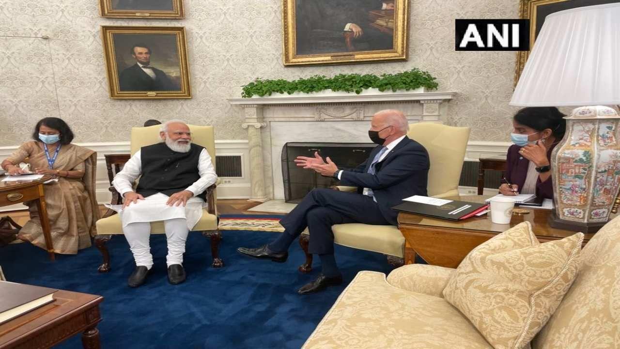 Narendra Modi and Jo Biden