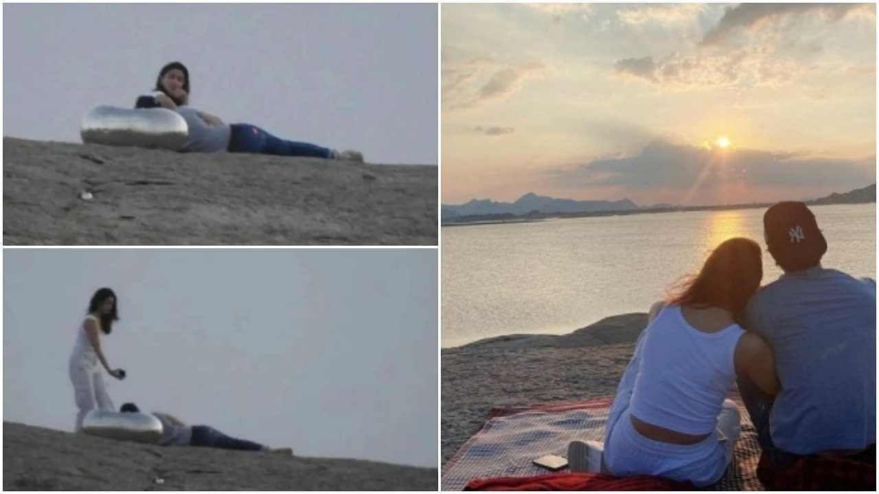 रणबीर कपूरने मंगळवारी जोधपूरमध्ये गर्लफ्रेंड आलिया भट्टसोबत वाढदिवस साजरा केला. आलियाने रणबीरसोबत एक फोटोही शेअर केला आहे ज्यात दोघं सूर्यास्ताचा आनंद घेत आहेत. फोटो शेअर करताना आलियानं लिहिलं, माझ्या आयुष्याला वाढदिवसाच्या शुभेच्छा. आलिया आणि रणबीरचा हा फोटो सोशल मीडियावर खूप व्हायरल होत आहे.