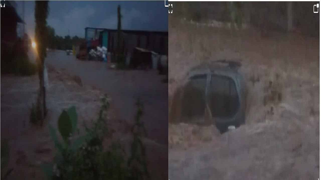 औरंगाबाद परिसरात झालेल्या मुसळदार पावसामुळे सुकना नदीने रुद्ररूप धारण केले आहे. सईनगर मधील अनेक घराची पडझड होऊन अनेक घरांमध्ये पाणी शिरले आहे. रस्त्यांवर पाण्याचे लोंढे वाहिल्यामुळे अनेक वाहनांचे मोठे नुकसान होत आहे.
