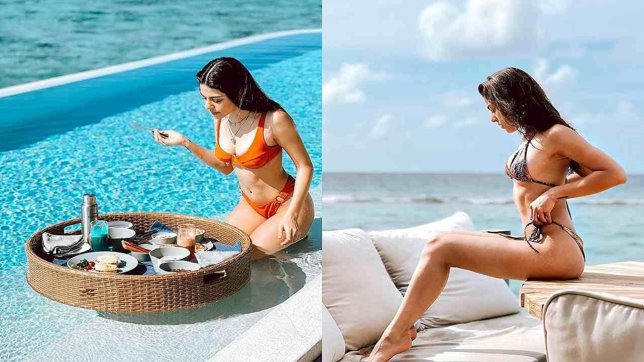 अलाया एफने नुकतेच तीचे मालदीवमधील काही फोटो सोशल मीडियावर शेअर केले आहेत. या फोटोमध्ये ती ऑरेंज रंगाच्या हॉट बिकनीमध्ये दिसत आहे. तिच्या या फोटोला चहत्यांची ही चांगलीच पसंती मिळाली आहे. तिच्या या फोटोला लाखांच्या घरात लाईक्स आणि कमेंट्स आल्या आहेत.