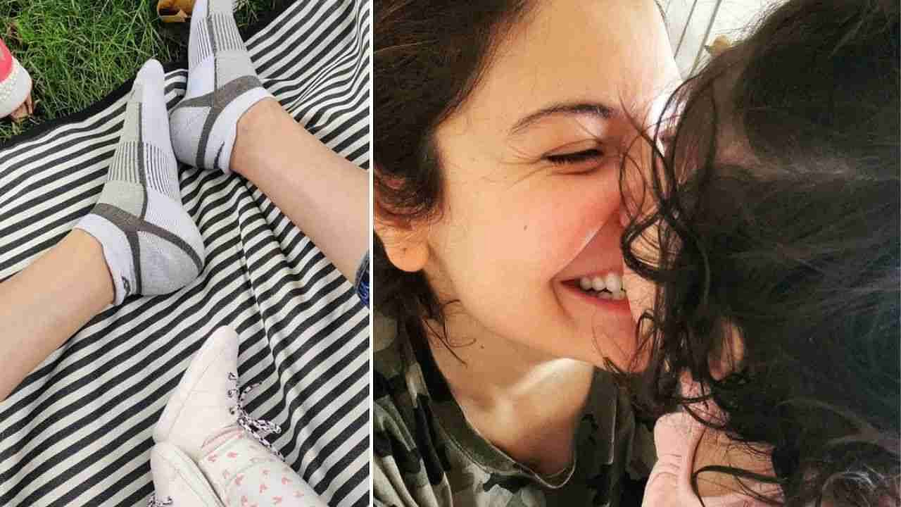 Recently, Anushka Sharma shared a photo of herself with Leki on social media.  In which Anushka is seen in a fun mood with her daughter.